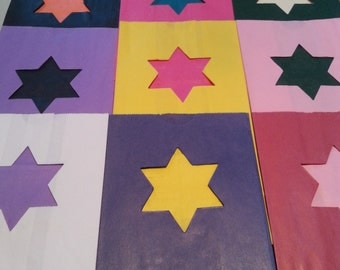 All Occasion Luminary Bags - STAR of DAVID (choose your color)  Pack of 10