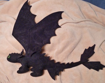 Toothless Beanie Baby Plush with extended wings