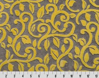 Mar Bella Granada Vine Minky Cuddle in Limon from Shannon Fabric