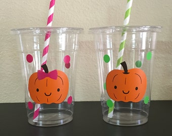Pumpkin patch party cups, Pumpkin Party Cups, Pumpkin Birthday Party Cups