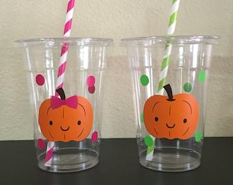 Pumpkin patch party cups