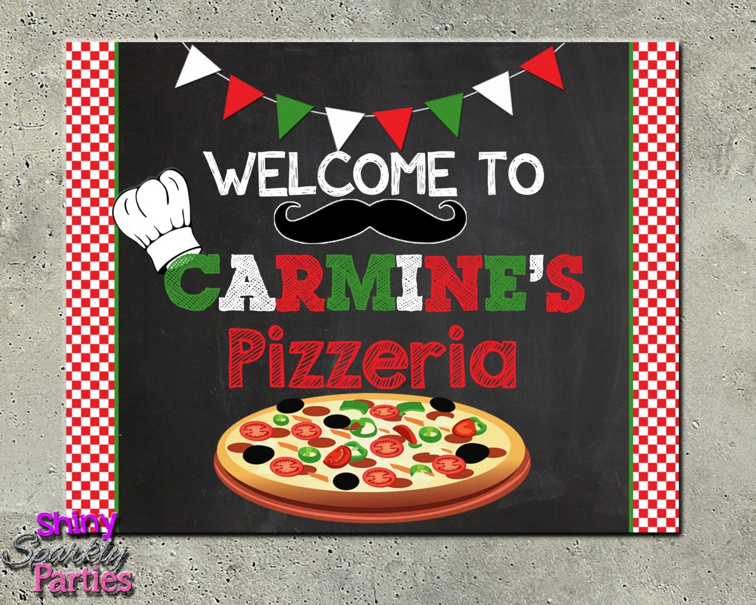 Printable Pizza Party Sign Pizza Party Welcome