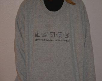 Grand Lake, Colorado Pullover 90s sweatshirt