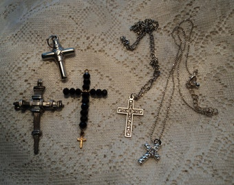 Christian Cross Pendants, Jewelry Parts, Destash Jewelry and Craft Supply