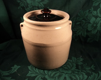 Antique Stoneware Crock, Rustic Primitive Decor