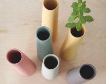 Ceramic Vase, single flower vase, pastel home decor, pastel ceramic vase, ceramic pot, flower pot, wedding vases, pottery vase, flower vase