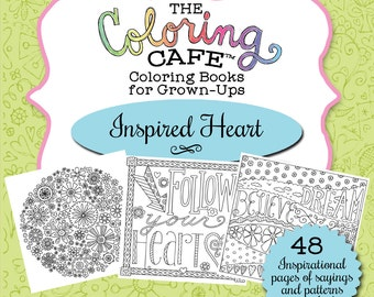 The Coloring CafeTM Inspired Heart Book For Grown Ups Adult