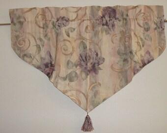 Fully Lined V-shaped Tapestry window Valance/Shabby Chic/Curtain