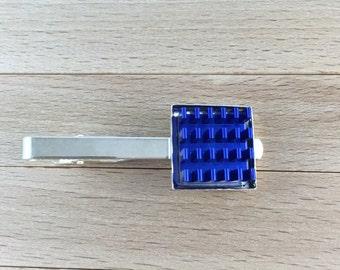 Techie Computer Heat Sink Tie Clip - Silver Plated Tie Tack