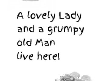 A lovely lady and a grumpy old man print *** downloadable ***