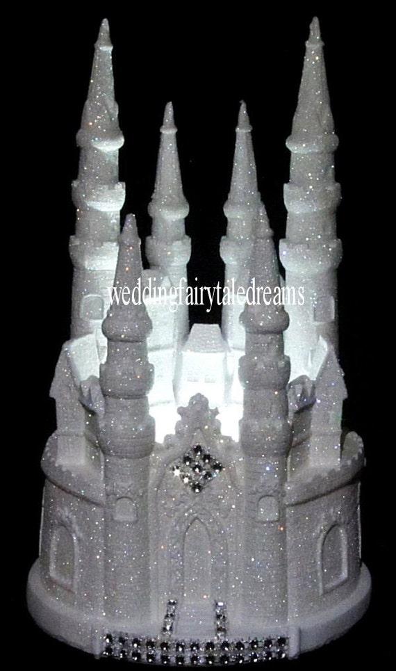 Lighted Wedding Castle Cake Topper