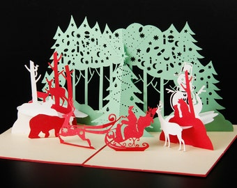 3D christmas card hand made