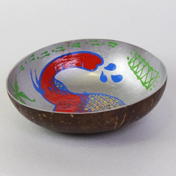 Classic Oriental Decorative Multipurpose Handmade Coconut Shell Bowl (PC 19)