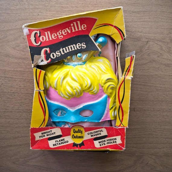 Ben Cooper Collegeville Fairy Princess Vintage Halloween Mask and Costume