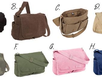 Custom Canvas Messenger Bag