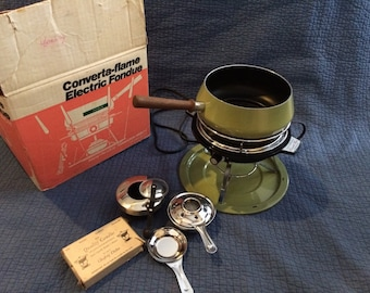 Hamilton Beach Converta-flame Electric Fodue/Electric,Fuel, or Candle Fondue