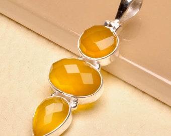 Honey Onyx Sterling Silver  pendant  (#J1742)