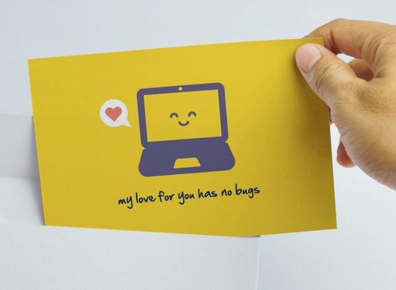 Geek Valentine Card - Geek Love Card - Programmer Love Card - Computer Love Card - Nerd Valentine - Geek Valentine
