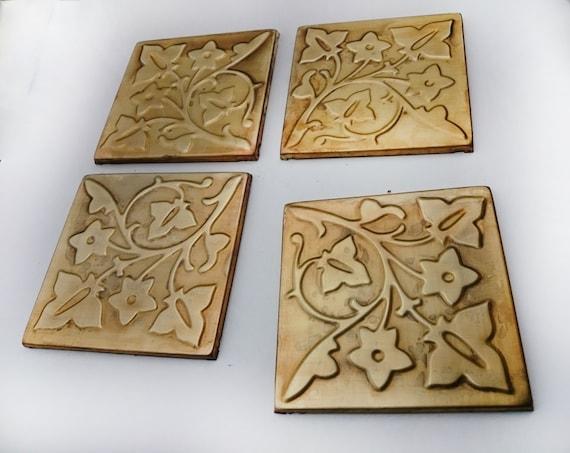 Metal tiles Kitchen backsplash backsplash tilesSET OF 4