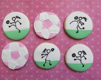 Girls Soccer cookies