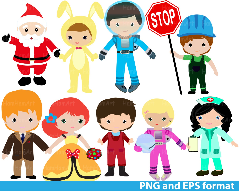 Costume Party Clip Art PNGEPS-Digital Clip Art Graphics