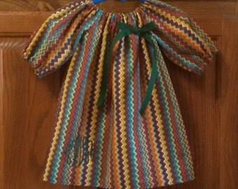Monogrammed Peasant Dress for Baby/Toddler/Girl