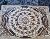 Pagan Asatru Alter Piece - Zodiac Calendar - Runes - Wheel of Year - Tree of Life - Custom Alter Piece - Woodburning - PLEASE SEE DETAILS