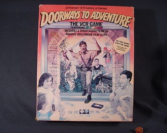 Vintage Old Collectible *  Board Game * DOORWAYS To ADVENTURE * The VCR Game * Pressman * 1986