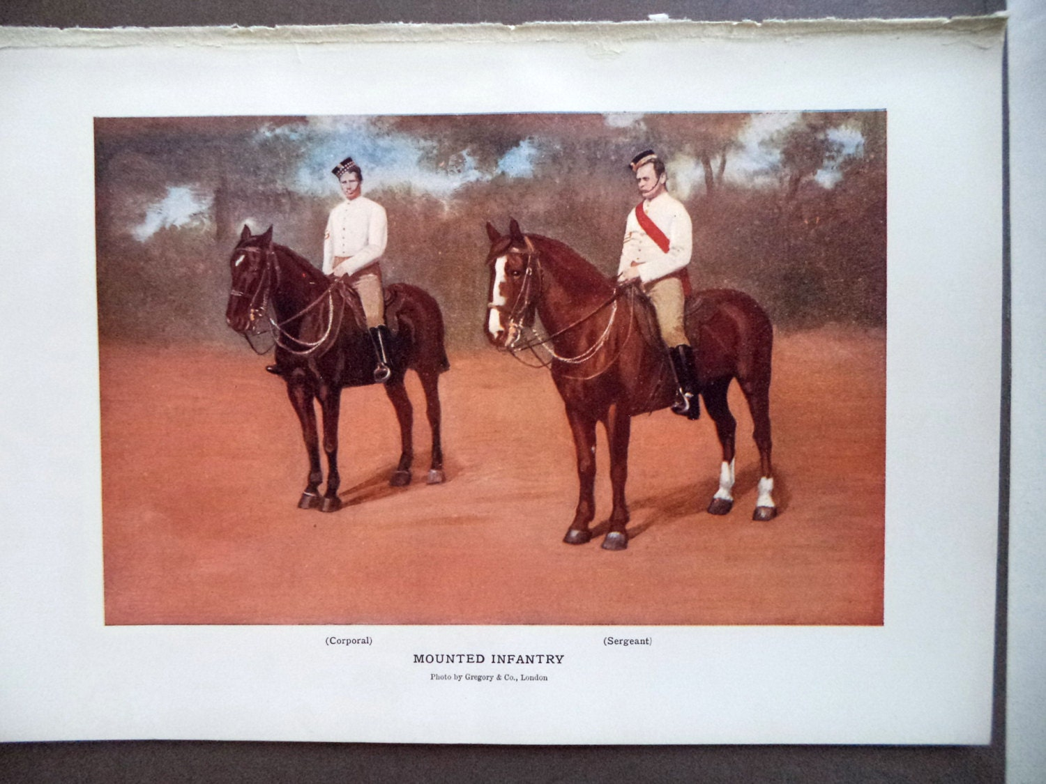 1901 Antique Print Mounted Infantry BOER WAR South Africa