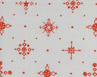 1 Yard Clover by Alexia Marcelle Abegg for Cotton and Steel 4028-2 Cafe Cup Persimmon
