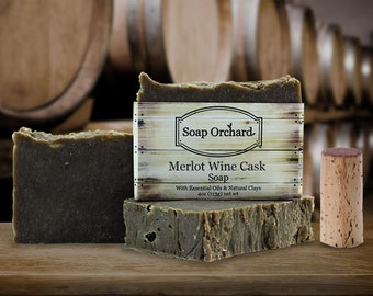 Merlot Wine Cask Soap Bar