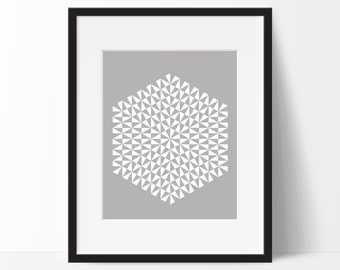 Geometric Print Art, Geometric Art, Geometric Printable, Digital Art Print, Geometric Print, Instant Download, Modern, Grey