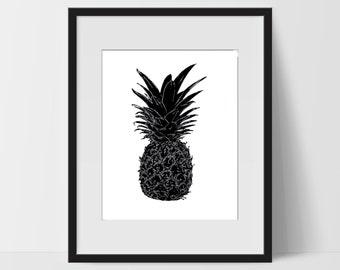 Pineapple Printable Wall Art Artwork Home Decor Modern Print Print Art