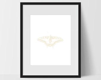 Butterfly Wall Art, Butterfly Print Art, Butterfly Artwork, Butterfly Home Decor, Digital Print, Butterfly Wall Decor, Yellow