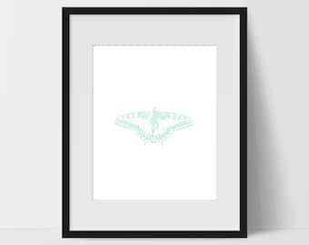 Butterfly Art Prints, Green Wall Art, Butterfly Print Art, Butterfly Artwork, Butterfly Home Decor, Butterfly Wall Decor, Prints