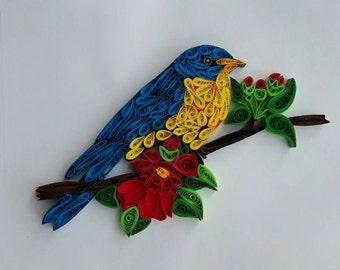 Quilling Bird - original - handmade