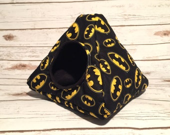 Hedgehog Bed   Guinea Pig Bed   Small Animal Bed   Hedgehog House   Guinea Pig House    Rat Bed   Tent Batman Custom Pick from 200 Fabrics