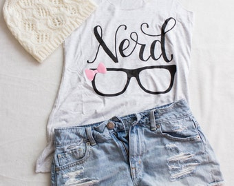 "Ladies ""Nerd"" Tank- MEDIUM"