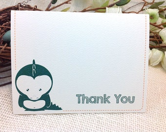 Thank you cards // A2 Broadfold with Baby Alligator  - Get Started Deposit or DIY Payment