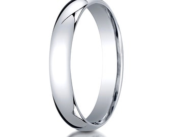 14kt White Gold Comfort Fit Wedding Ring 4mm, 4mm Wedding band, 4mm Wedding Ring, Comfort fit band, 4mm comfort fit ring,