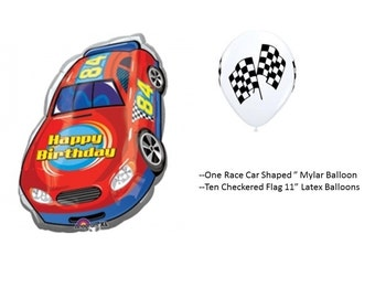 Race Car Balloon Set