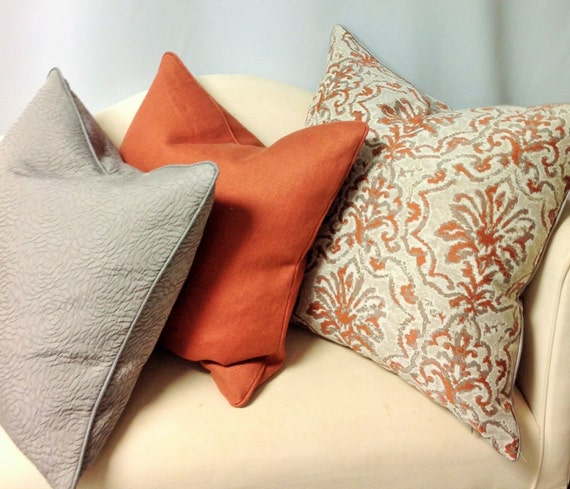 Decorative Pillow Trio : Decorative Pillow Trio WITH Cording Invisible Zipper Down