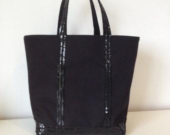 Glittery bag size M Black