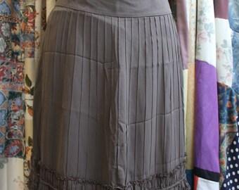 Fenn Wright Mason Grey/brown silk skirt  REF18