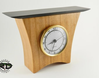 Cherry Clock, Handmade Clock, Mantle Clock, Desk Clock, Clock