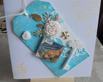 Art tag card. handmade cards. greeting cards. paper handmade. fancy handmade. handmade greeting cards.
