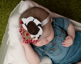 country baby headband, rodeo, cowprint, cowgirl headband, rodeo headband, baby cowgirl headband, country baby headband, cow print headband