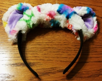 Headband Peace bear -White