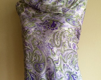Paisley and Feather printed shawls. Hand woven, extremely Soft.