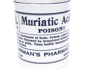 Vintage Apothecary Mug - Muriatic Acid